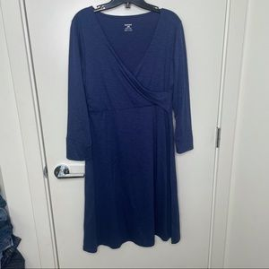 Horny Toad wrap dress 3/4 sleeve